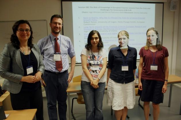 From left: Inga Ulnicane, Nicola Francesco Dotti, Lavinia Marin, Andrea Gideon and Dorota Dakowska