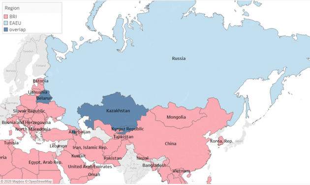 """Constructing a Eurasian higher education region: """"Points of correspondence"""" between Russia's Eurasian Economic Union and China's Belt and Road Initiative in Central Asia"""
